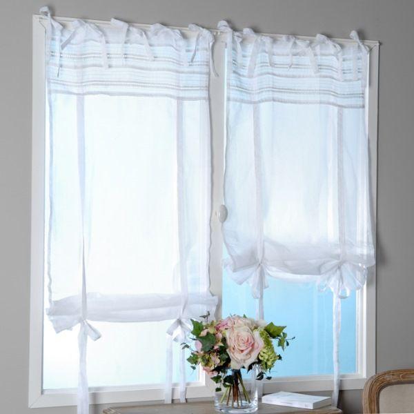 Store enrouleur blanc 60x160 cm amadeus amadeus home for Rideau 45x120