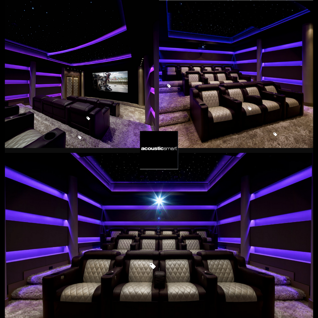 Totally Get Inspired By Acousticsmart They Are A Design Fabrication Of Acoustically T In 2020 Home Theater Room Design At Home Movie Theater Home Theater Lighting