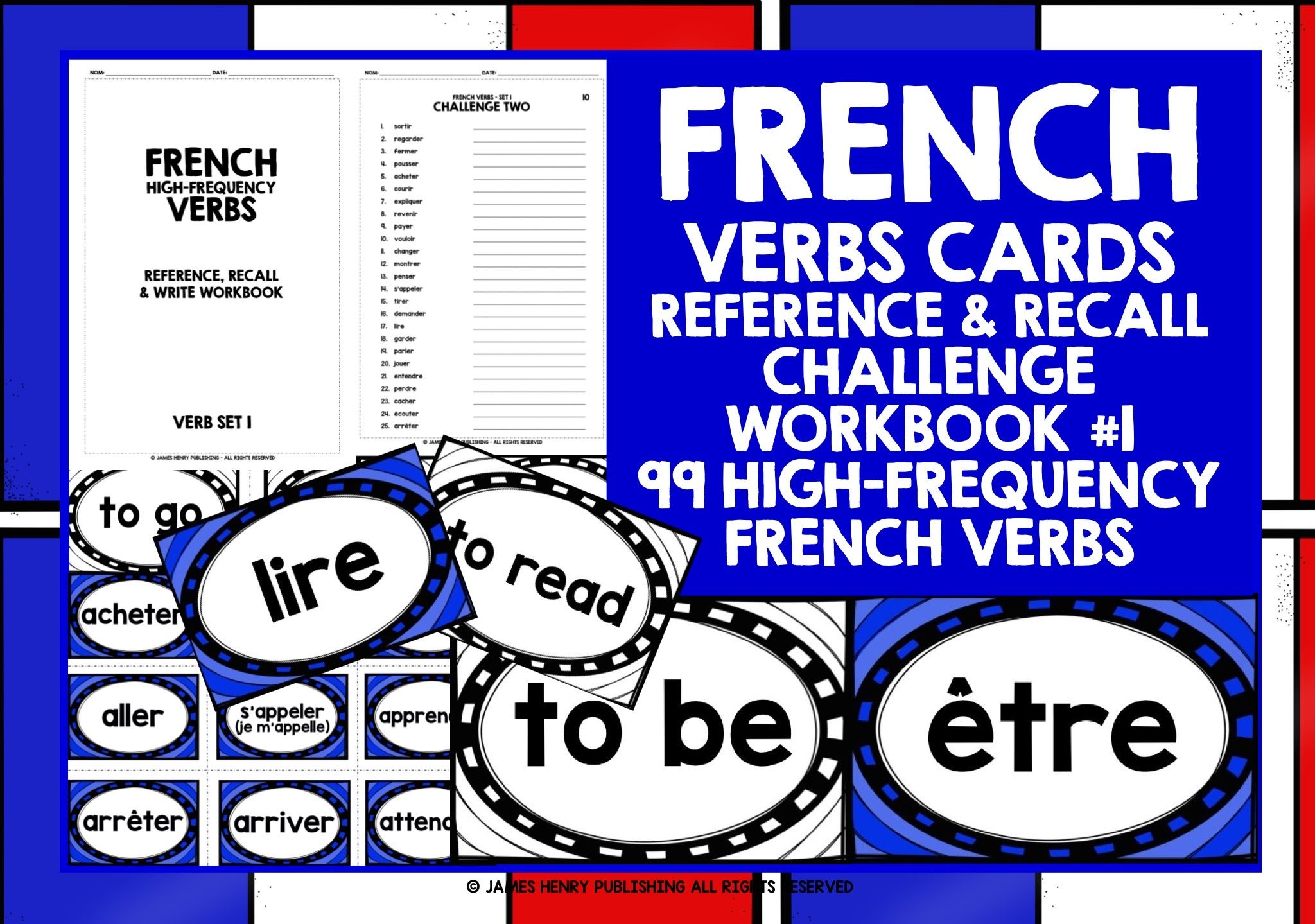 French Verbs Cards With Workbook In