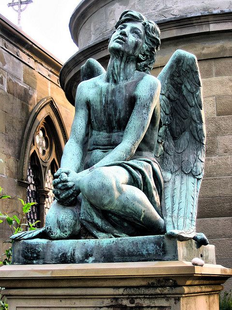 Angel Tears Tombstone in Florence, Italy.