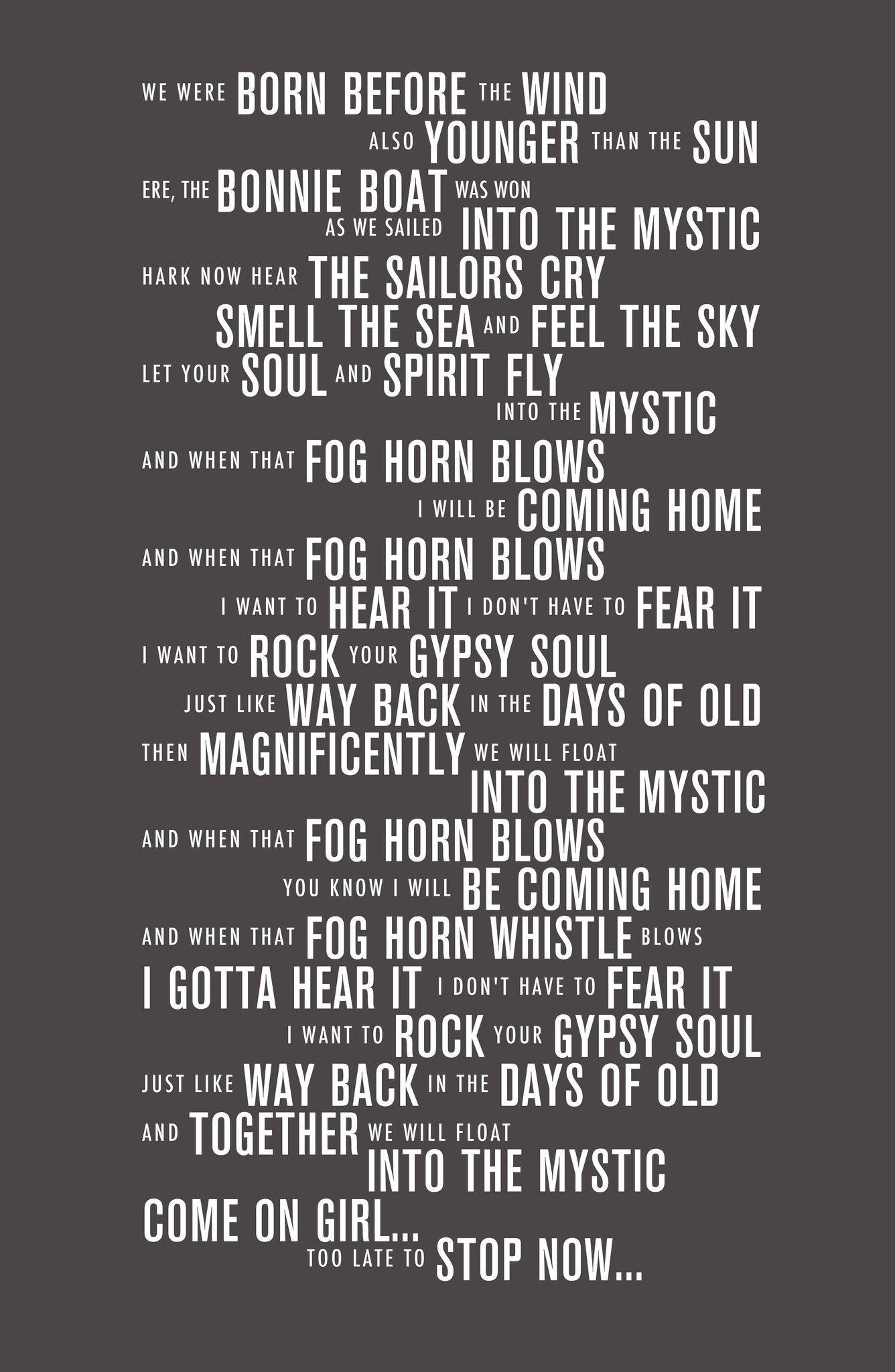Into The Mystic Van Morrison Lyrics Into The Mystic Lyrics Great Song Lyrics