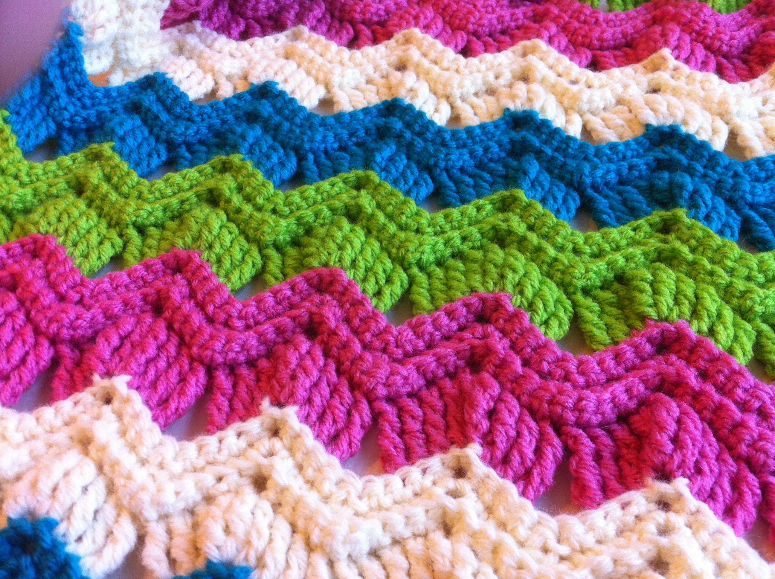 Free Crochet Pattern- Vintage Ripple Fan Scarf | Vintage fans ...
