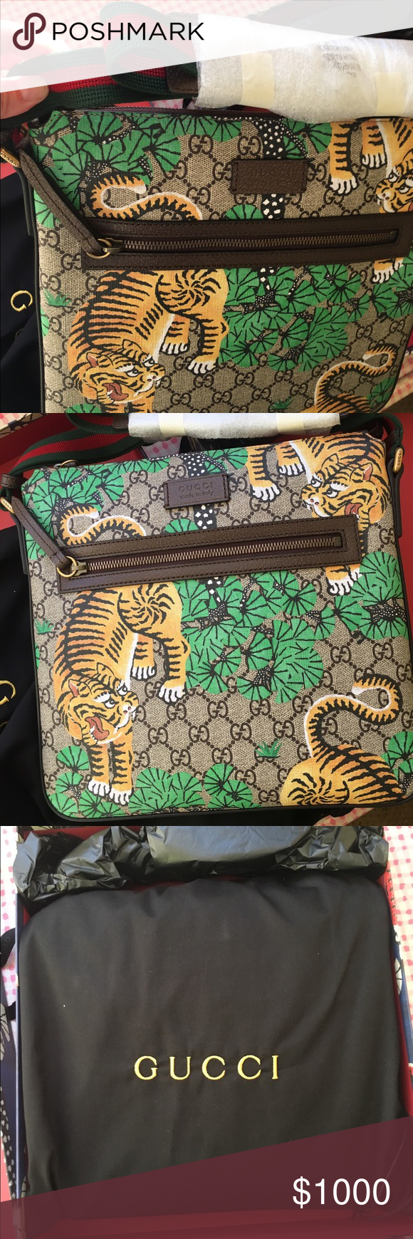 0b53fdb6153f59 Gucci Bengal GG Supreme Messenger Bag Brand new. Never used. Men's Gucci  Messenger Bag. Comes with the dust bag and original limited edition box.