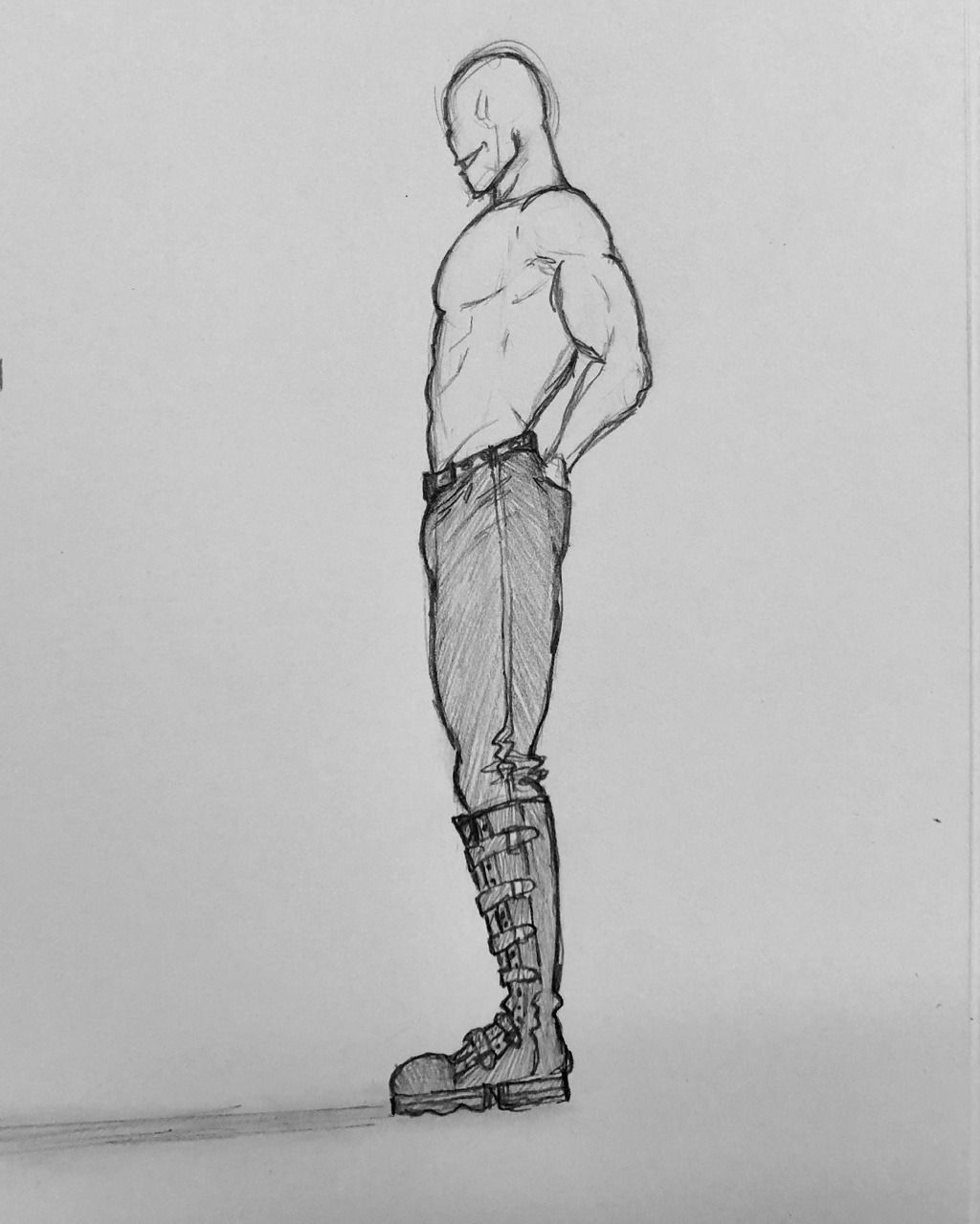 A Lot Of Old Guys Male Body Drawing Side View Drawing Anime Side View