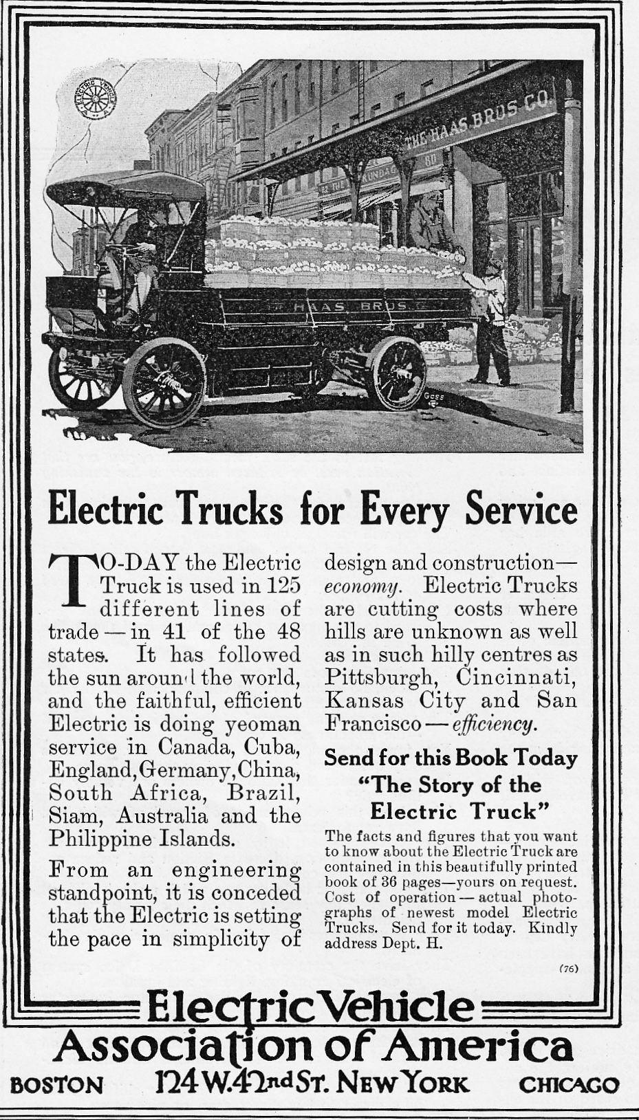 Electric Vehicle Ociation Of America 1913