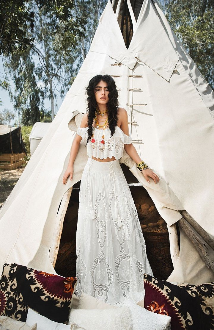 Inbal Raviv Bohemian wedding gowns : Beach wedding dress inspiration , crochet wedding dress,boho wedding gowns ,free spirit wedding gowns, laid back wedding dresses