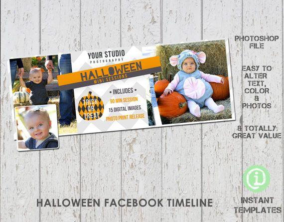 Facebook Halloween Timeline Photoshop Template - F1H002 Timeline