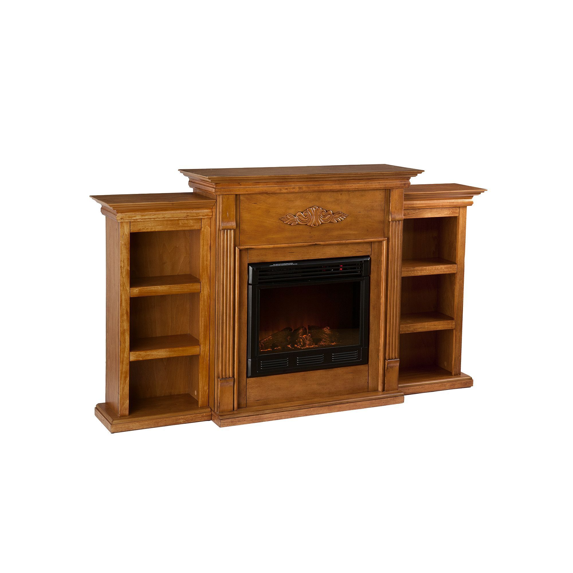 Tennyson Bookcase Electric Fireplace Southern Enterprises Tennyson Bookcase Electric Fireplace