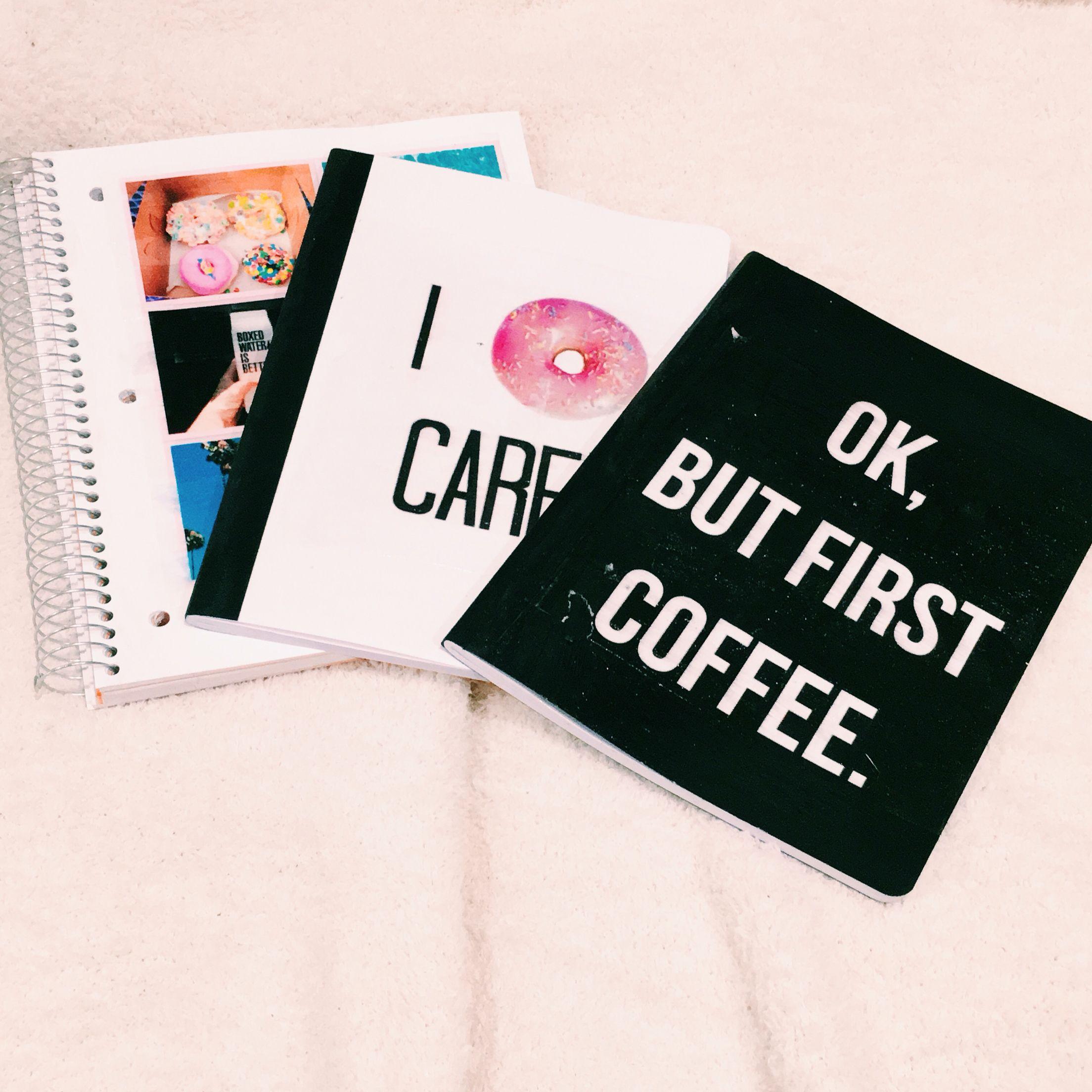 DIY back to school notebooks ♡ | Cool DIYS | School