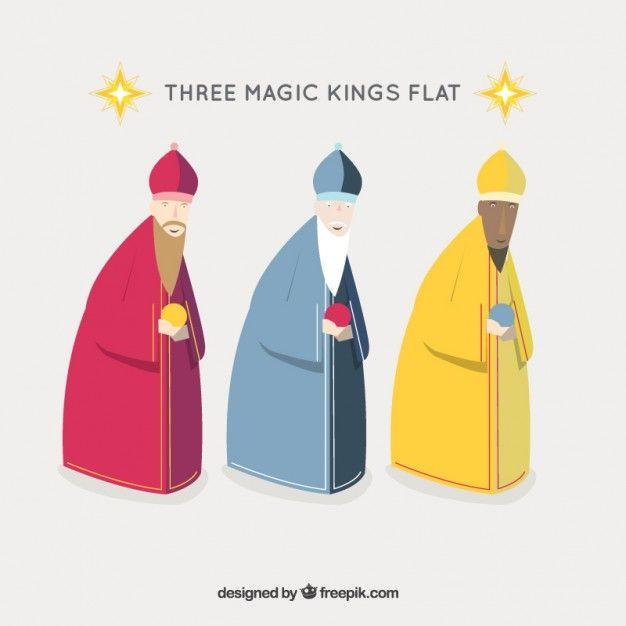 Imagenes Tres Reyes Magos Gratis.Iconos De Los Tres Reyes Magos Vector Gratis Christmas
