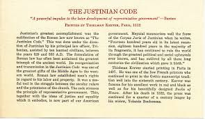 justinian code examples