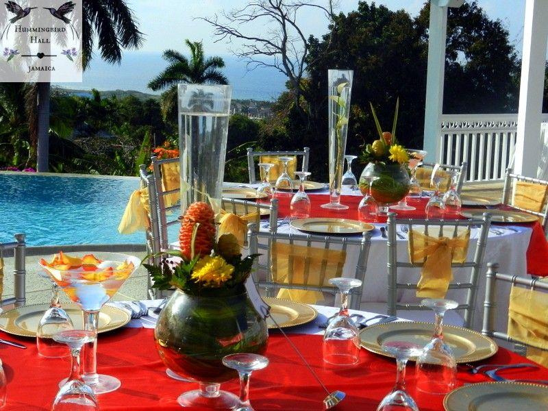 Modern Island Themed Jamaica Destination Wedding Reception At Boutique All Inclusive Venue Hummingbird Hall