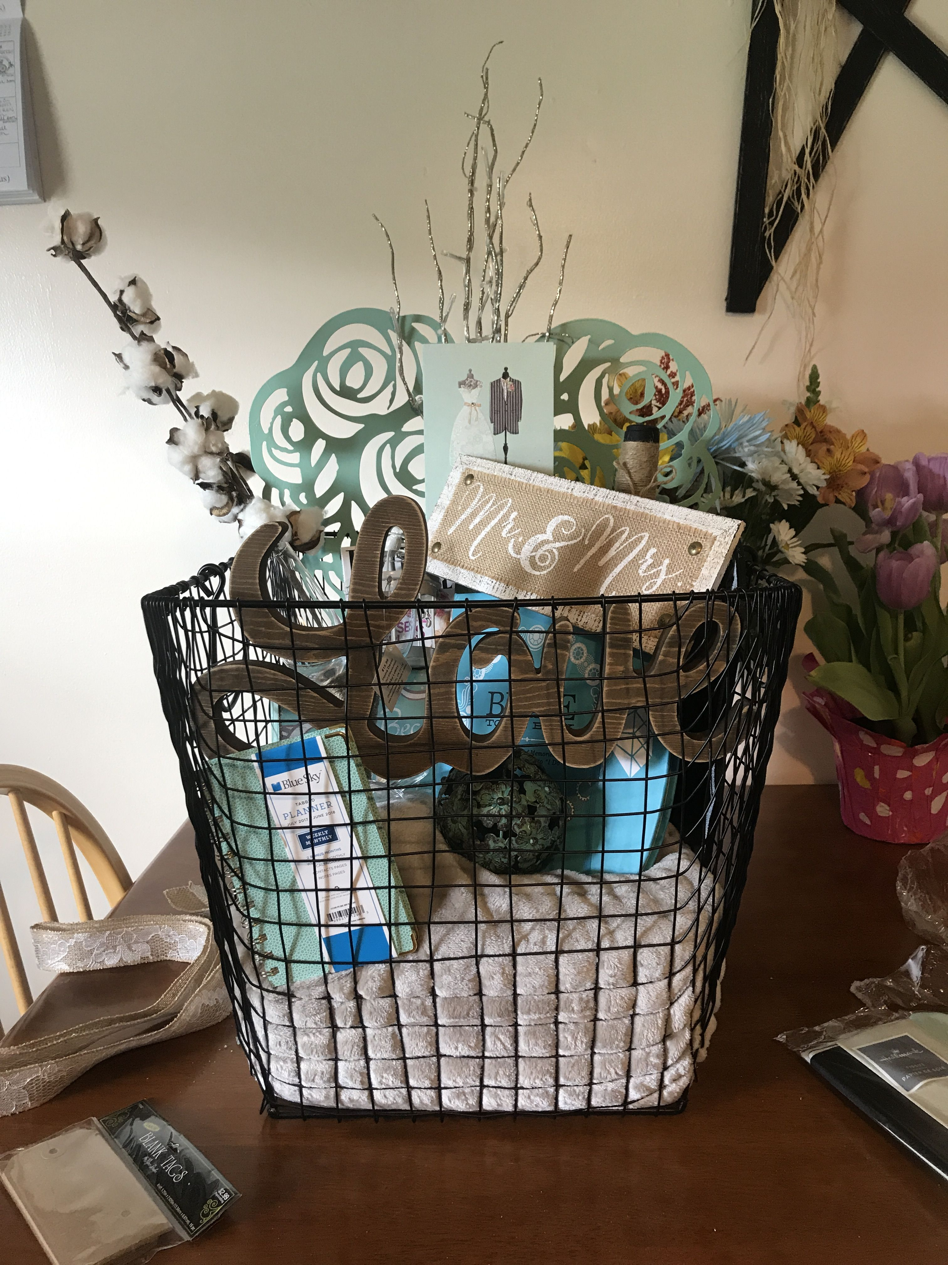 Bridal gift basket designed by as you wish bridal gift