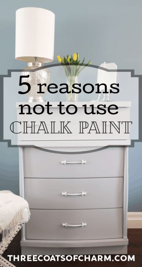 5 reasons not to choose chalk paint to paint wood furniture. Why latex paint is a better choice for painting furniture. #chalkpaint #paintedfurniture