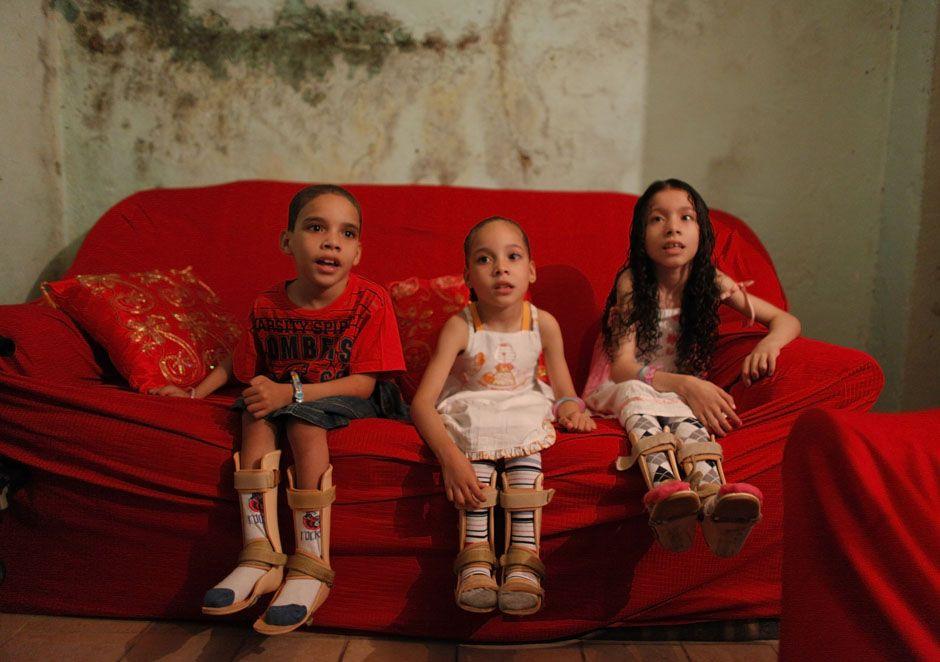 All three children suffer from a disease called Pelizaeus