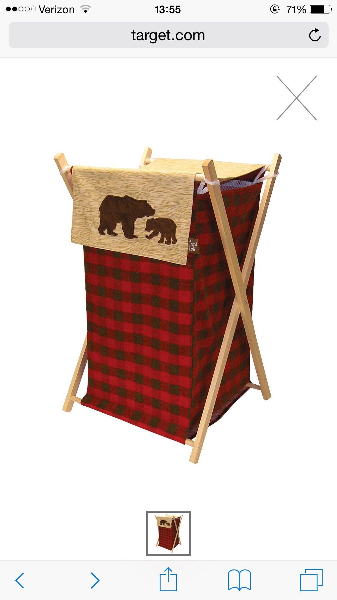 Target Lumberjack Boy Bear Hamper Trend Lab Bear Decor
