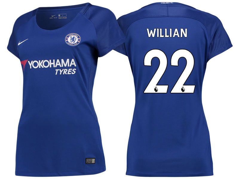 the latest a8133 ea38b Chelsea Jersey willian 17-18 Home Women Shirt | chelsea ...