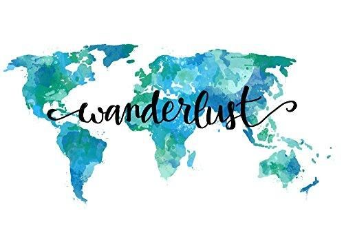Wanderlust decor 9x12 inch wall art quotes world map art print teal wanderlust decor 9x12 inch wall art quotes world map art print teal travel home decor gumiabroncs Images