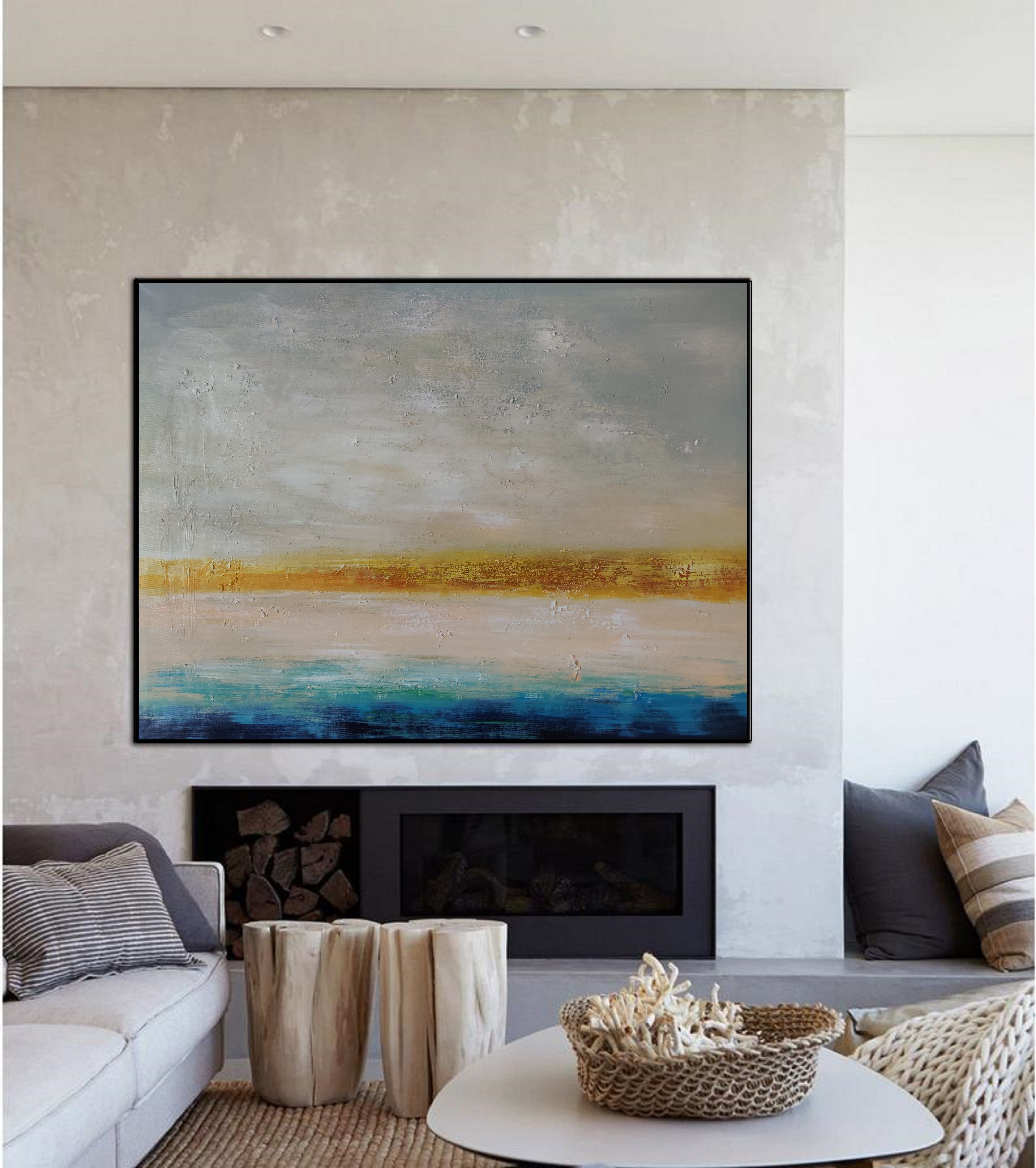 Original Abstract Oil Painting Living Room Decoration Abstract Oil Painting Personal Customized La In 2020 Painting Blue Abstract Art Abstract Painting