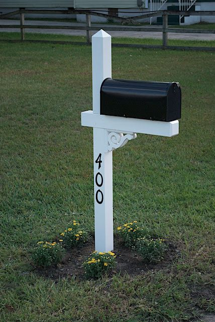 Finishing Touches House Numbers Mailbox Design Mailbox Makeover