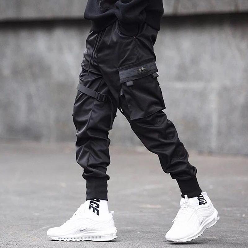 Pants Fashion Hip Hop Punk Harem Jogger Techwear Men Big Pockets Casual Cargo