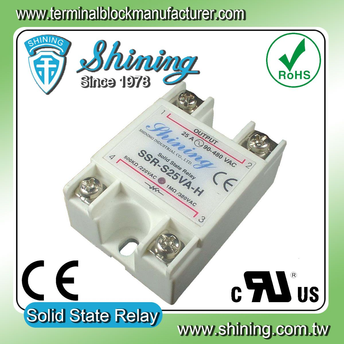Ssr S25va H Vr To Ac Solid State Relay By Shining Ee Industrial 220v