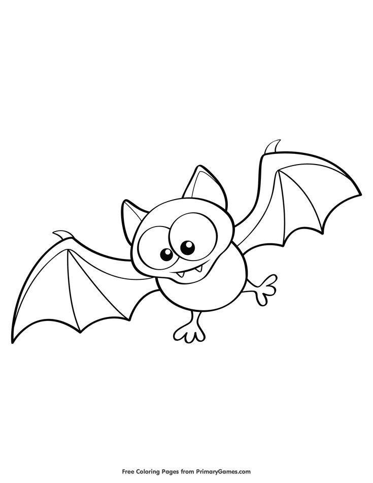 Cute Bat Coloring Page Free Printable Ebook Bat Coloring Pages Unicorn Coloring Pages Cute Bat