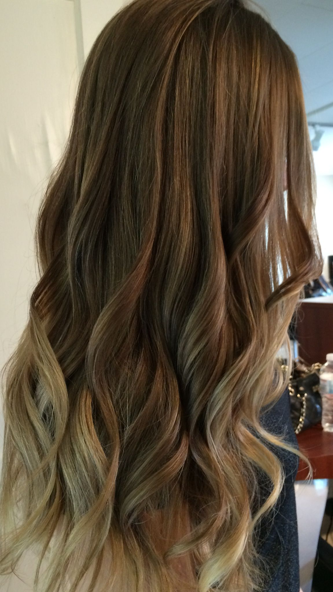 Balayage ombre using her natural dark blonde light brown ...