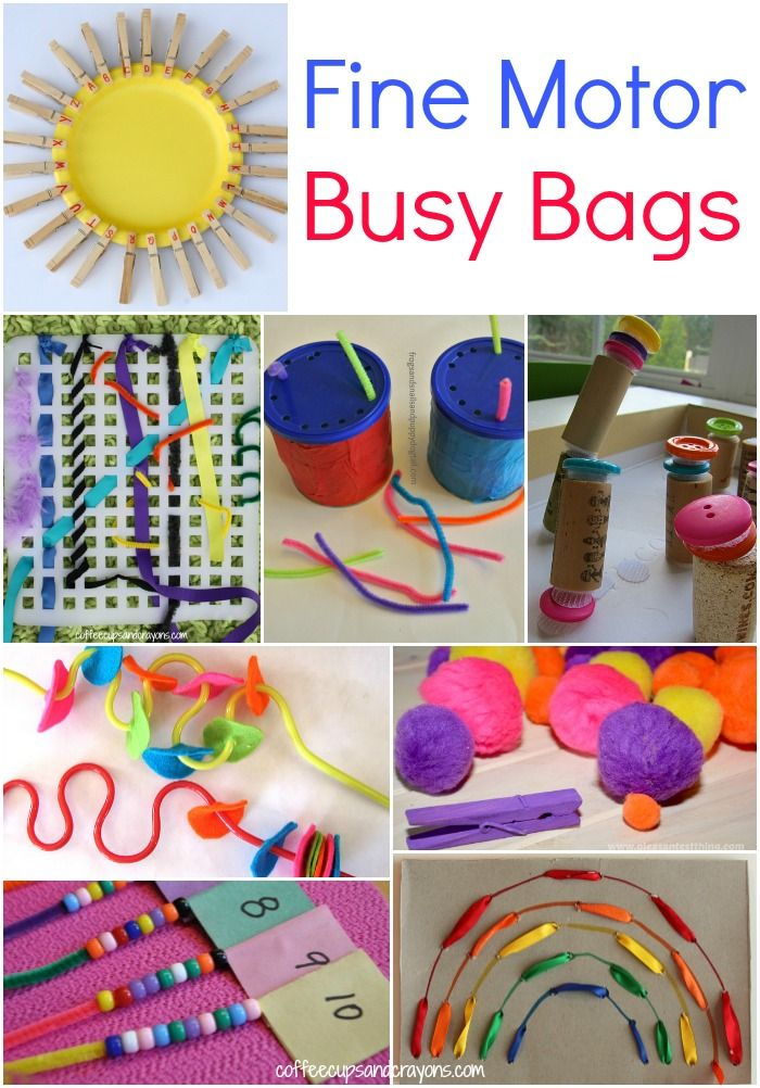 327abd9996 Fine Motor Busy Bags for Kids from Coffee Cups and Crayons