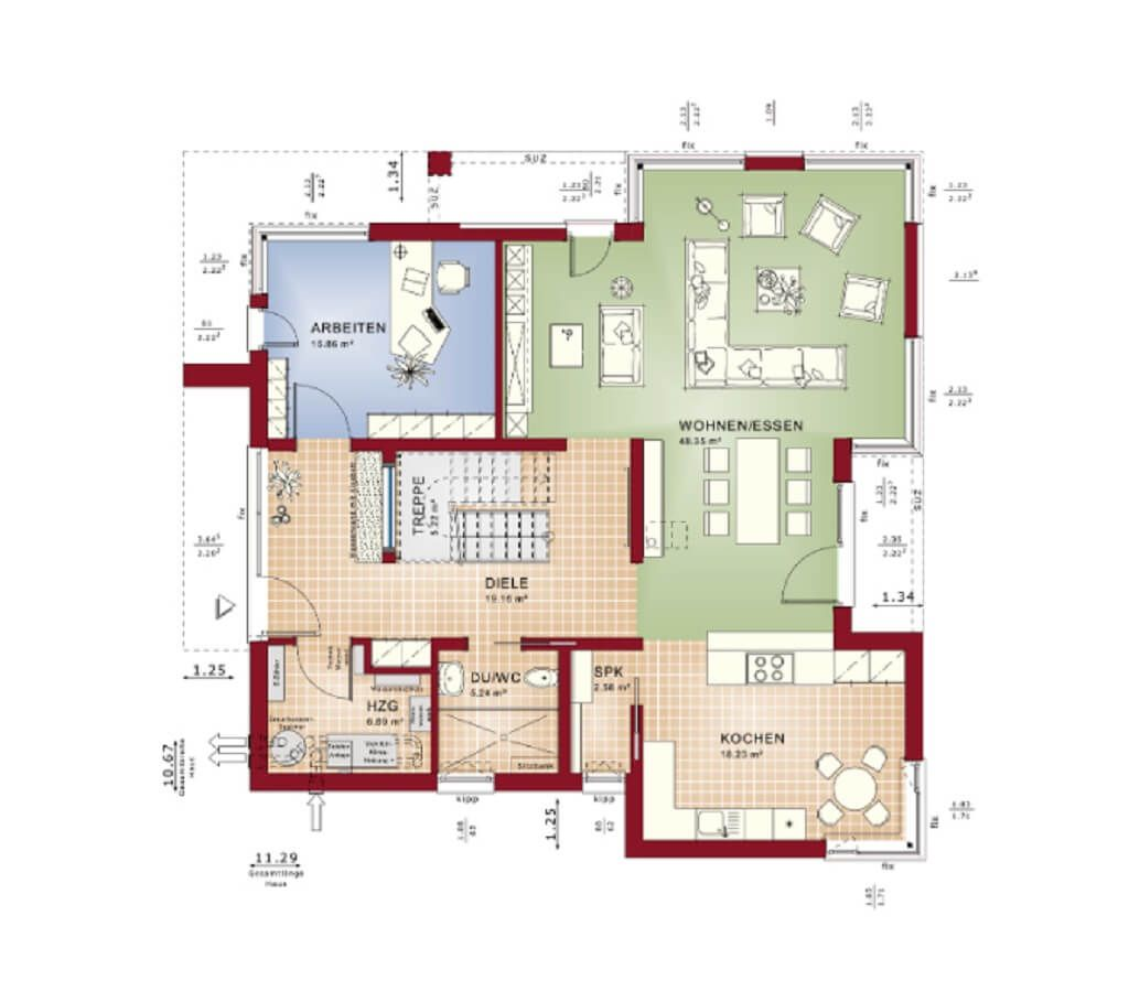 Concept m m nchen design v1 bien zenker haus and house for Zweifamilienhaus plan