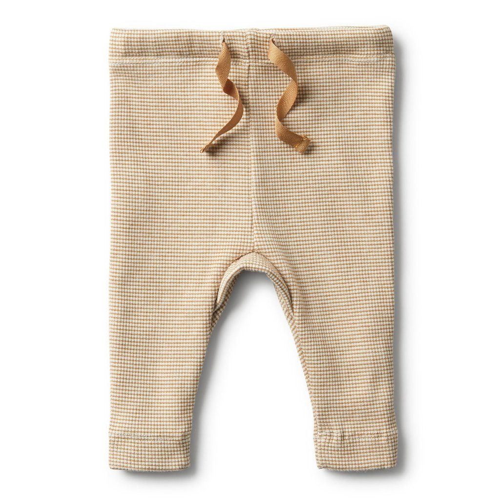 Organic Caramel Rib Legging Wilson Kids Boutique Clothing Organic Baby Clothes Ribbed Leggings