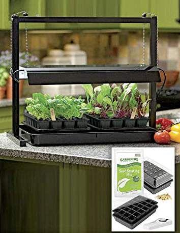 Countertop Grow Light Garden Starter Kit Includes 2 400 x 300