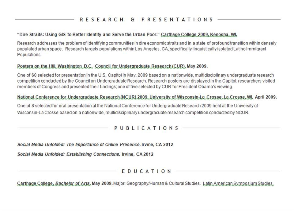 Research, Publications, \ Education Resume Overview Resume - education on resume