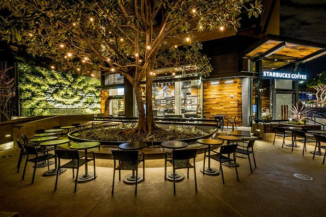 Disneylands surprisingly classy starbucks channels neutra business design restaurant design and classy
