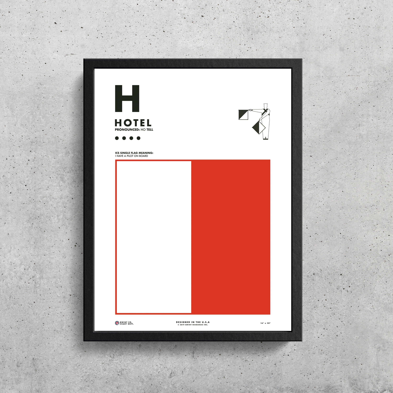 Signal Flag H Hotel H Phonetic Alphabet Morse Code Etsy Signal Flags Flag Printable Phonetic Alphabet