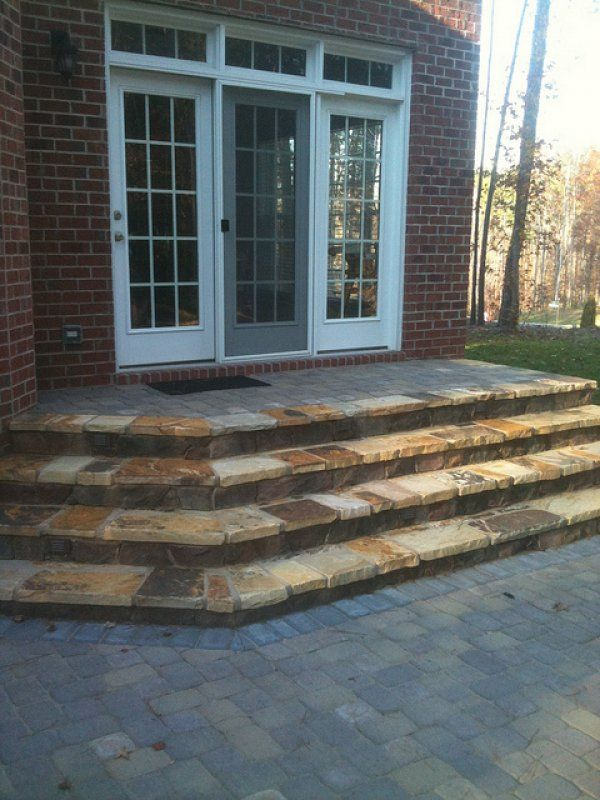 Here Are Some Natural Stone Patio Steps.