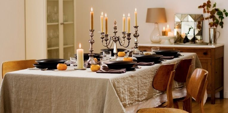 Rustic/Transitional Fall Dining