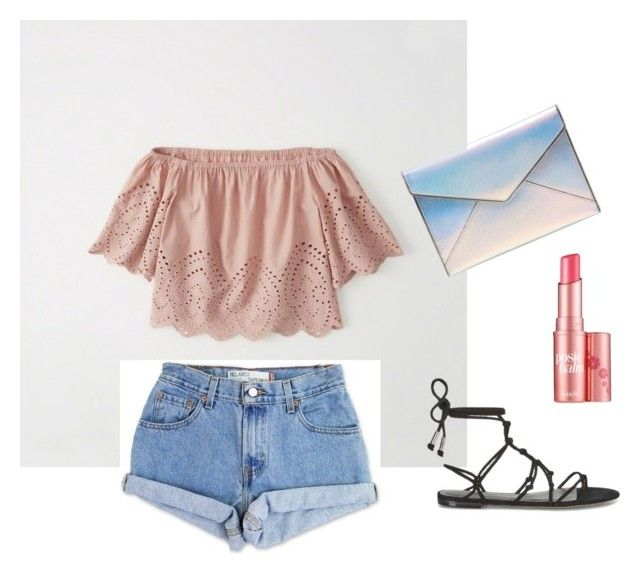 """""""Untitled #3"""" by missmelle on Polyvore featuring Abercrombie & Fitch, Levi's, Rebecca Minkoff and Benefit"""