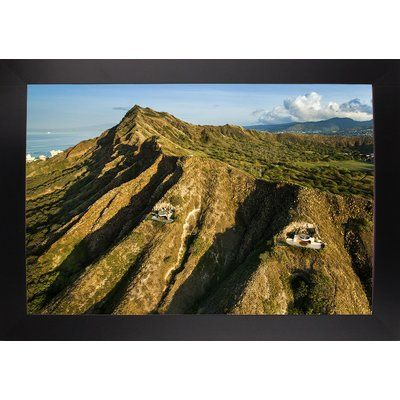 East Urban Home 'Diamond Head Bunkers' Photographic Print Format: Black Large Framed