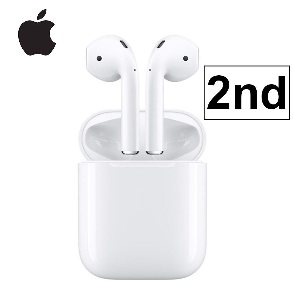 Apple Airpods 2nd With Charging Case Bluetooth Earphone Wireless Bass Earbuds Tones Connect Siri For Ipho Bluetooth Earphones Apple Airpods 2 Apple Watch Phone