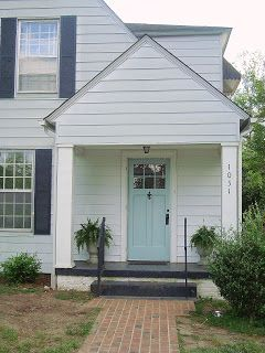 Mull Makeover The One With The Blue Door White House Black Shutters Front Door Colors House Shutters