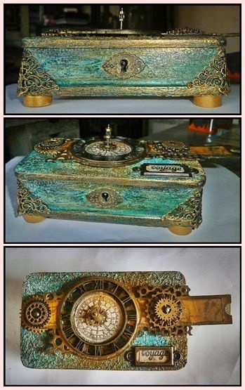 Mixed Media Altered Box by Nate #decoartprojects