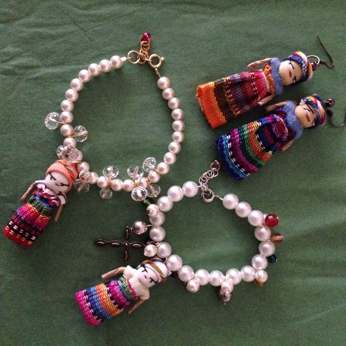 I sell guatemalan worry doll bracelets and earrings. Aliceprettyjewel@gmail.com to order or whatsapp 6026392209 Alice