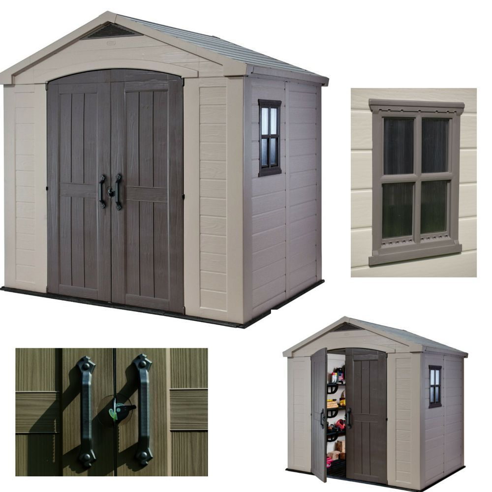 Outdoor Storage Garden Shed Plastic Sheds Utility Bike Foundation Tool  Cabinet
