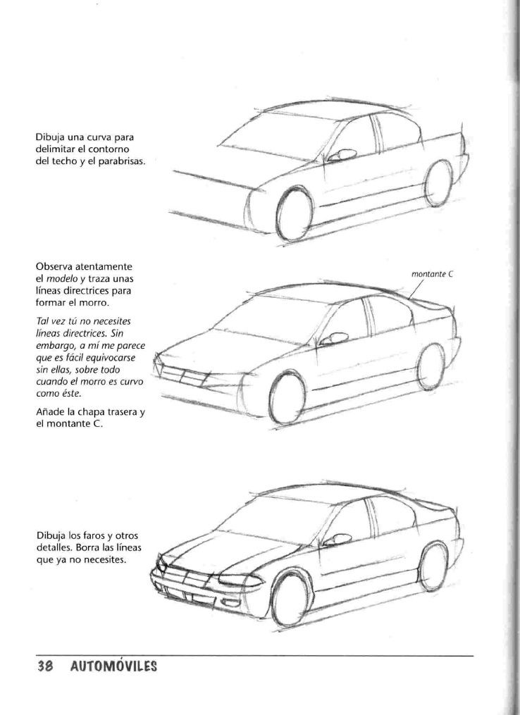 Como Dibujar Autos Paso A Paso Car Drawings Drawing Machine Car Artwork