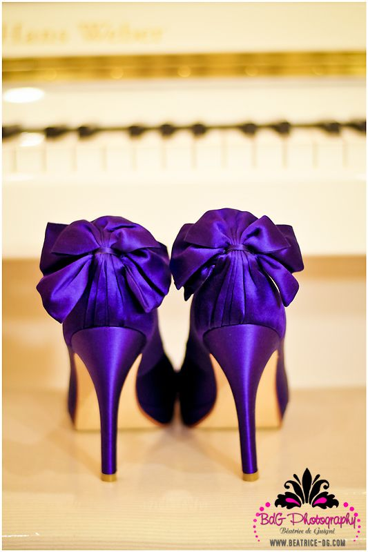 Purple Heels With Bows A Ma Zing Purple Wedding Shoes Fun Wedding Shoes Wedge Wedding Shoes