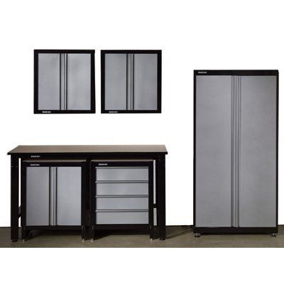 Garage Storage 6 Piece Set Steel Cabinets Stack On System