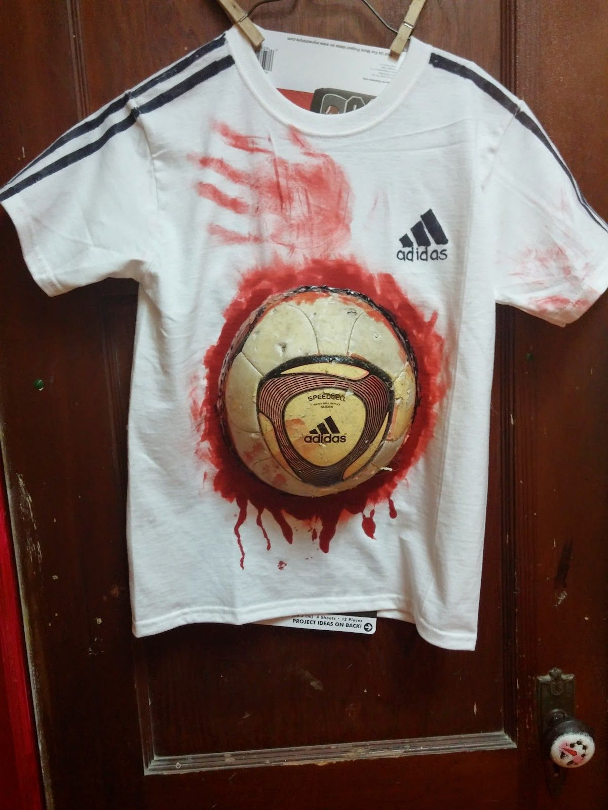 Zombie Soccer Player For The Shirt You Ll Need 1 White T
