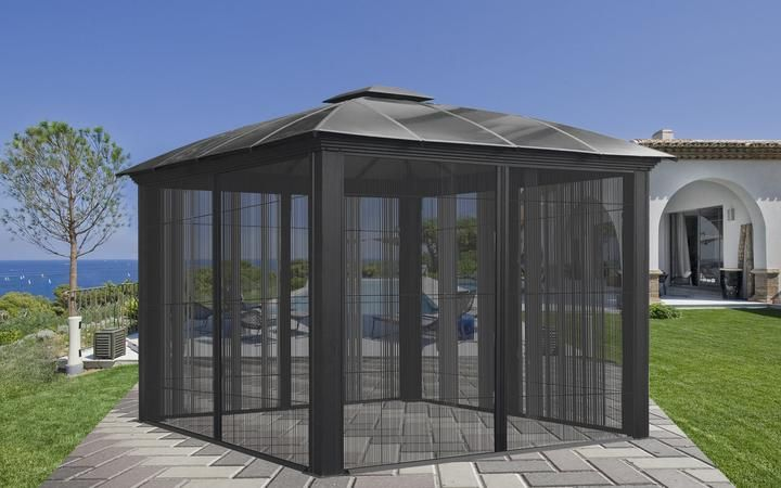Description Your Backyard Could Be So Inviting If Only There Was Shade You Could Lounge Outside Enjoy The Breeze Aluminum Gazebo Gazebo Gazebo Structures