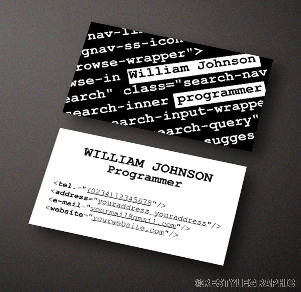 Carte De Visite Programmer Business Card